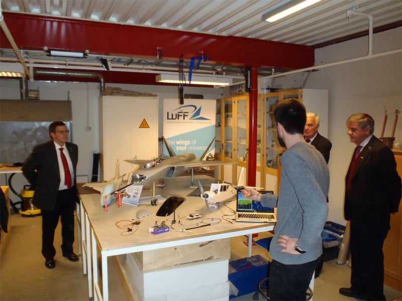 Visita às instalações da Universidade de Linköping