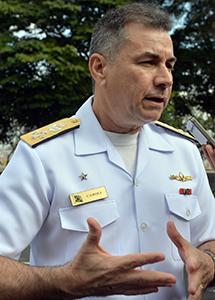 Chefe de Logística do Ministério da Defesa, almirante Luiz Henrique Caroli