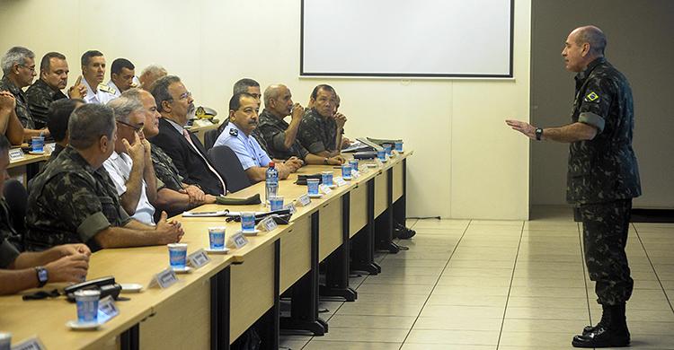 General Fernando Azevedo e Silva apresentou a estrutura do CGDA para as Olimpíadas - Foto: Felipe Barra/MD