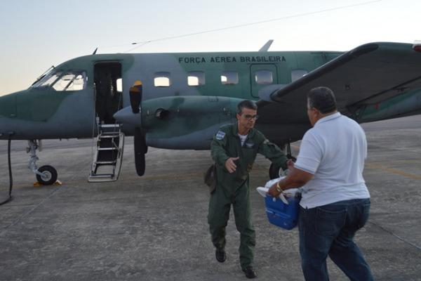 Aeronave C-95 Bandeirante transportou o órgão de Natal para Fortaleza
