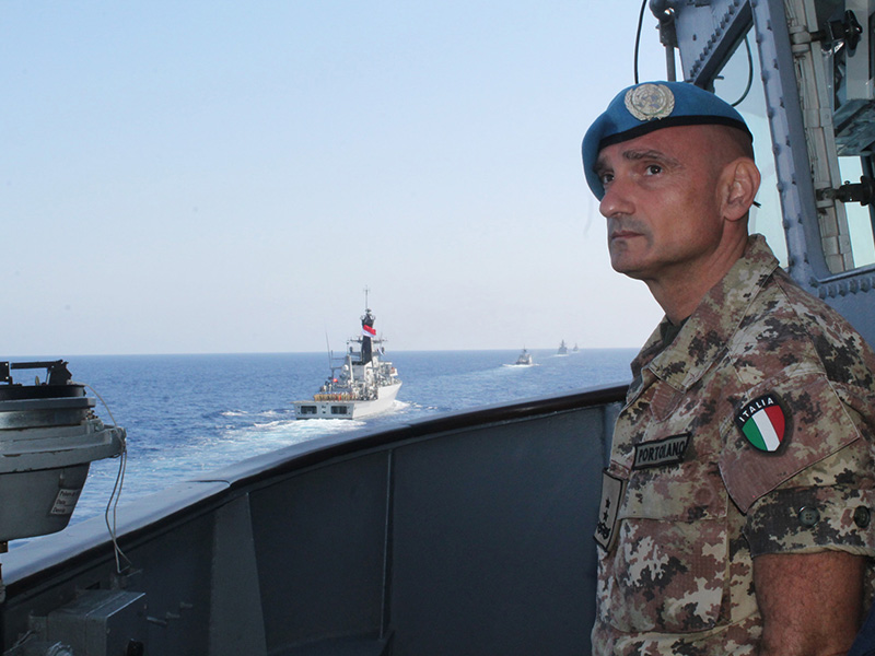 """Force Commander da UNIFIL a bordo da Fragata """"Independência"""""""