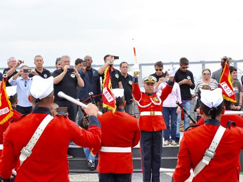 Banda Marcial do CFN se apresenta para comitiva da ADESG-MG