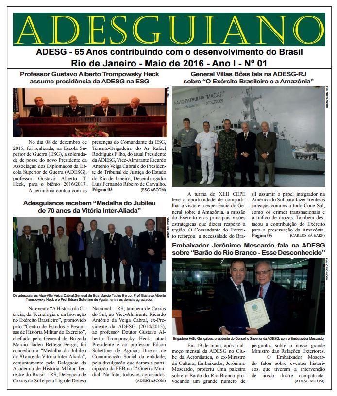 O retorno do Jornal Adesguiano