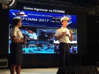"""Alunos ministram a palestra """"O Mar como carreira: A profissão de Oficial da Marinha Mercante"""""""