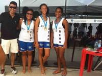 Vencedoras da categoria Canoy Estreante feminino
