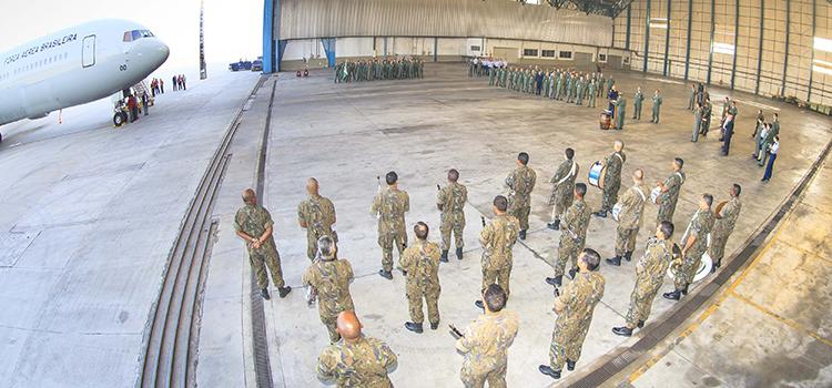 Todo efetivo do Esquadrão Corsário participou da solenidade de recebimento do Boeing 767 300ER