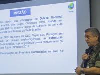 Na abertura, general Leme falou das ações especificas do Comando Militar do Planalto para a segurança dos Jogos em Brasília