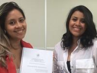 Acadêmicas de jornalismo, Taisa Maria Pereira dos Passos e Thalyanne da Silva Araújo