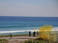 Disparo do míssil mistral na restinga da Marambaia