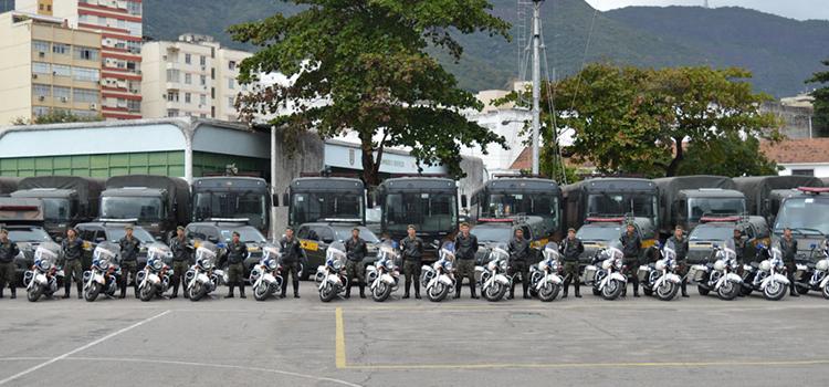 Tropas do Exército realizam exercícios para atuação nos Jogos Olímpicos