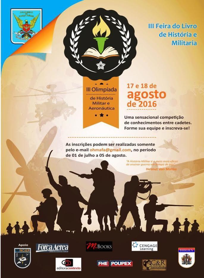 Academia da Força Aérea promove a III Olimpíada de História Militar e Aeronáutica