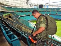 Fuzileiro Naval realiza varredura na Arena Fonte Nova