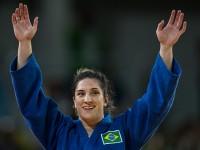A sargento da Marinha Mayra Aguiar conquistou a terceira medalha para o Brasil e a segunda medalha olímpica de sua carreira no judô