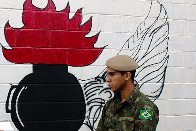 Militares imprimem arte nas instalações dos quartéis Olímpicos
