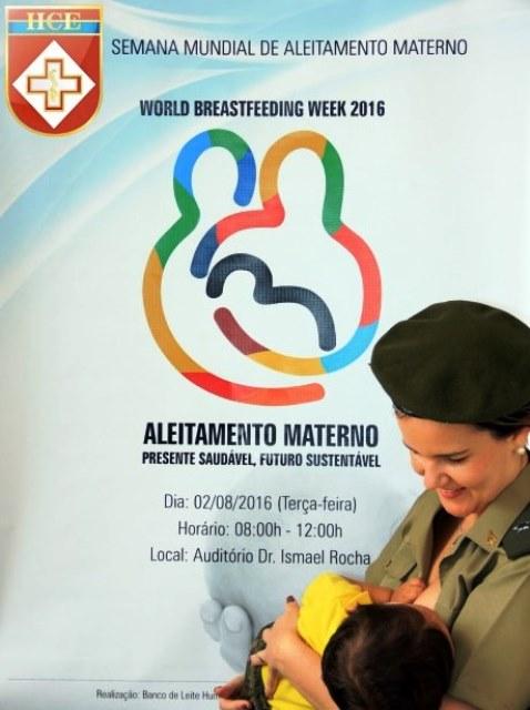 Semana Mundial do Aleitamento Materno no Hospital Central do Exército