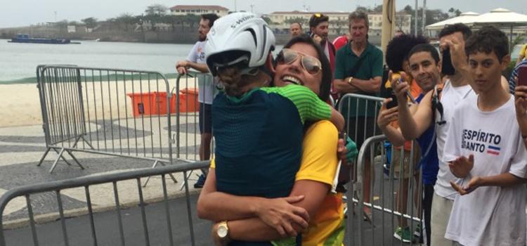 Sargento Flávia ficou em sétimo lugar na prova de ciclismo de estrada