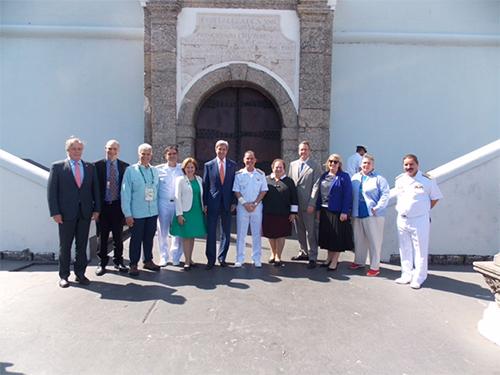 Secretário de Estado Americano visita as instalações dos Jogos Olímpicos na EN