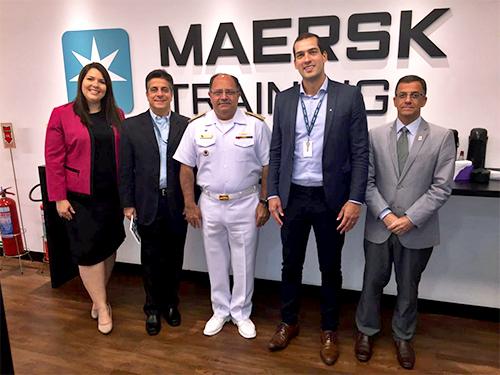 Diretor de Portos e Costas realiza visita técnica na Maersk Training