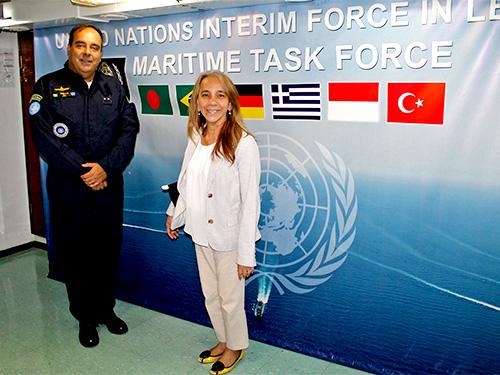 Subsecretária-Geral das Nações Unidas visita a FTM-Unifil
