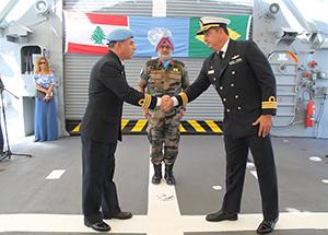 """UNIFIL tem Fragata """"Liberal"""" como novo Navio-capitânia"""