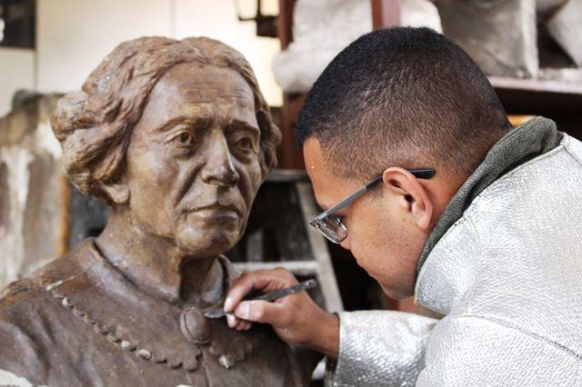 Fundição do Busto da D. Rosa da Fonseca no Arsenal de Guerra do Rio