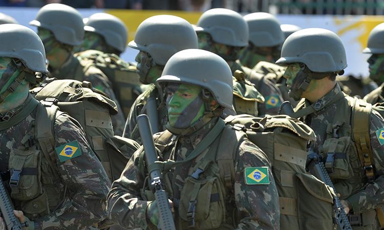 A Força Planalto foi representada pela 3ª Brigada de Infantaria Motorizada - Foto: Tereza Sobreira