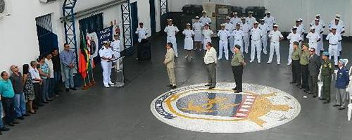 Capitão dos Portos agradecendo a presença de todos