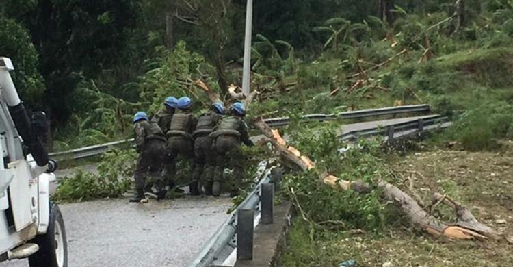 Contingente Brasileiro no Haiti presta apoio às regiões mais atingidas pelo furacão Matthew