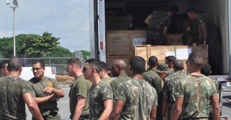 As ações são integradas em apoio à ajuda humanitária