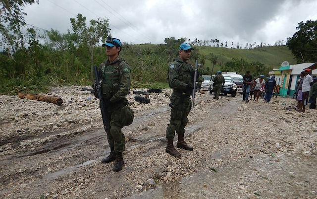 Contingente Brasileiro presta apoio às vitimas do Furacão Matthew no Haiti