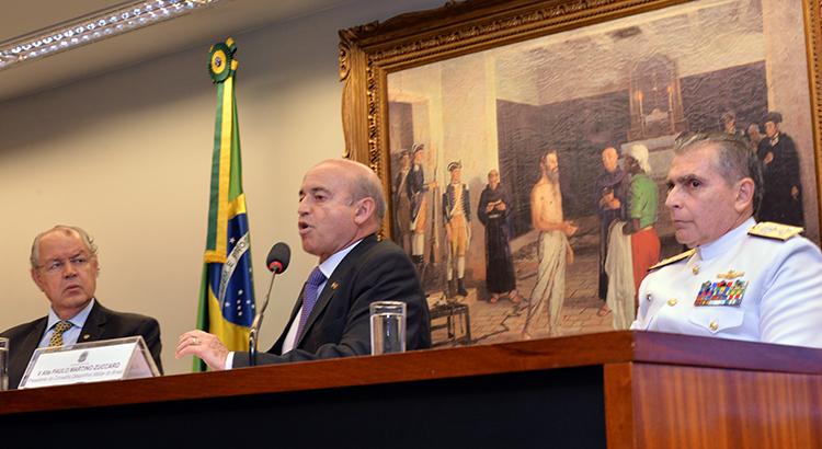 O brigadeiro Ricardo Machado, secretário do MD, ressaltou a participação das Forças Armadas em prol do esporte nacional