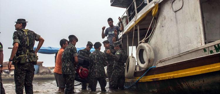 Medicamentos e materiais serão transportados por barcos e balsas das Forças Armadas como aconteceu em edições anteriores