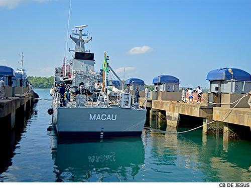 "Base Naval de Aratu conclui reparo do Navio Patrulha ""Macau"""