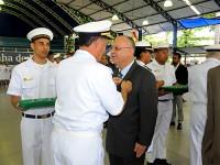 Vice-Almirante (RM1) Sávio foi um dos agraciados durante a solenidade