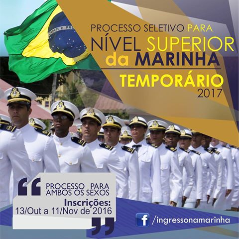 Marinha oferece 450 vagas de nível superior com R$8 mil iniciais