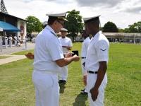 Atletas namibianos são homenageados pelo Comandante do CIAA