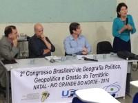 Congresso Brasileiro de Geografia Política, Geopolítica e Gestão do Território foi realizado na UFRN