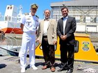 Ministro e comitiva foram recebidos pelo Capitão dos Portos de São Paulo