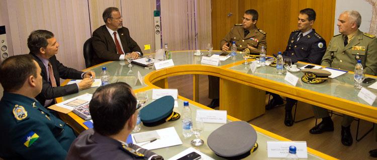 Ministro Jungmann recebe em audiência comandantes de PMs