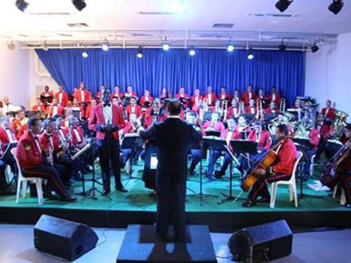 Banda Sinfônica do Corpo de Fuzileiros Navais no Centro de Convenções de Pirapora