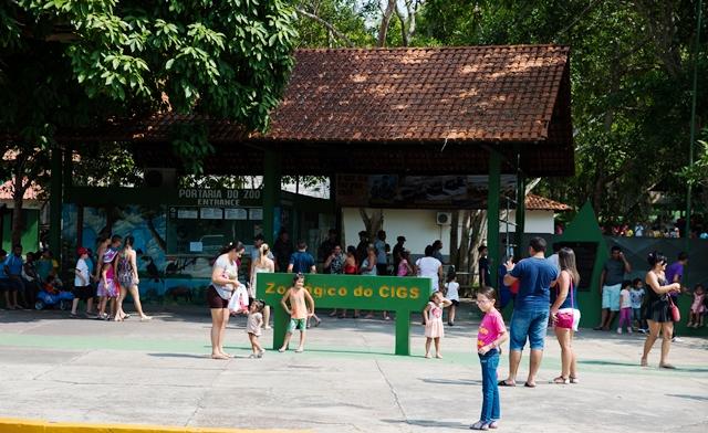 Zoológico do CIGS recebe milhares de visitantes no Dia das Crianças