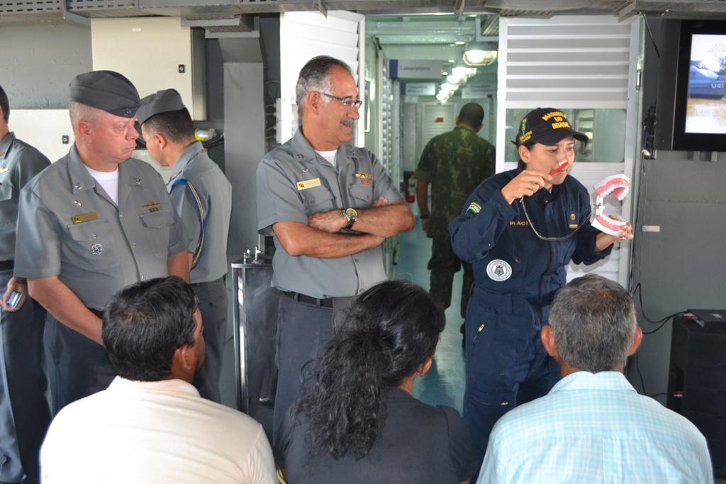 Comomando do 9°DN recebe Visita do Almirantado Programada