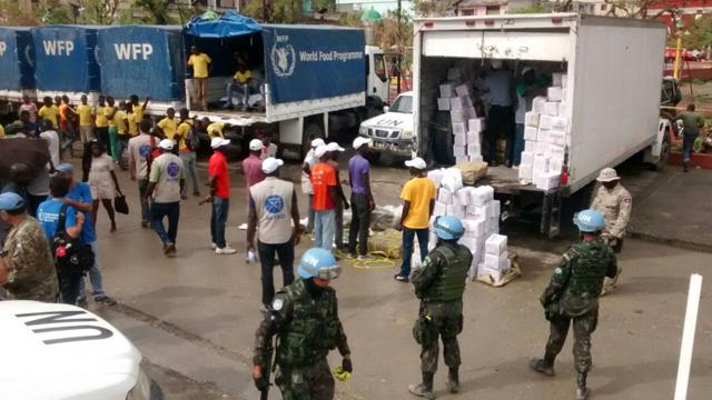 BRABAT realiza ações de distribuição de alimentos em Jeremie