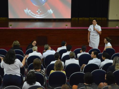 Palestra na Policlínica Naval de São Pedro da Aldeia