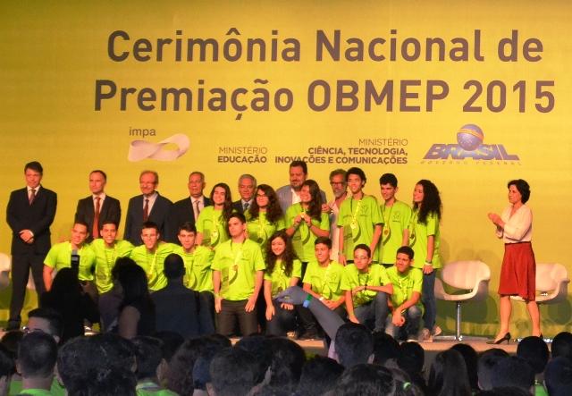 Premiação da 11ª Olimpíada Brasileira de Matemática das Escolas Públicas 2015