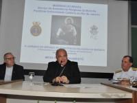 Padre Josafá (E), Dom Orani Tempesta (C) e Almirante de Esquadra Ilques (D)