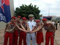 1º Ten (RM2-T) Guilherme e alunos do CMM