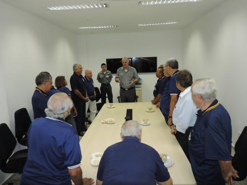 Vice-Almirante Aguiar Freire recepcionou os Soamarinos no Comando do 3º Distrito Naval