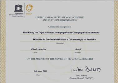 DPHDM recebe registro internacional da UNESCO