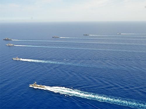 FTM em operações no Mediterrâneo, nas proximidades das águas territoriais libanesas